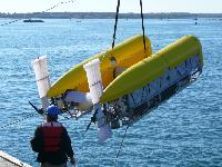 AUV launch for first dock test