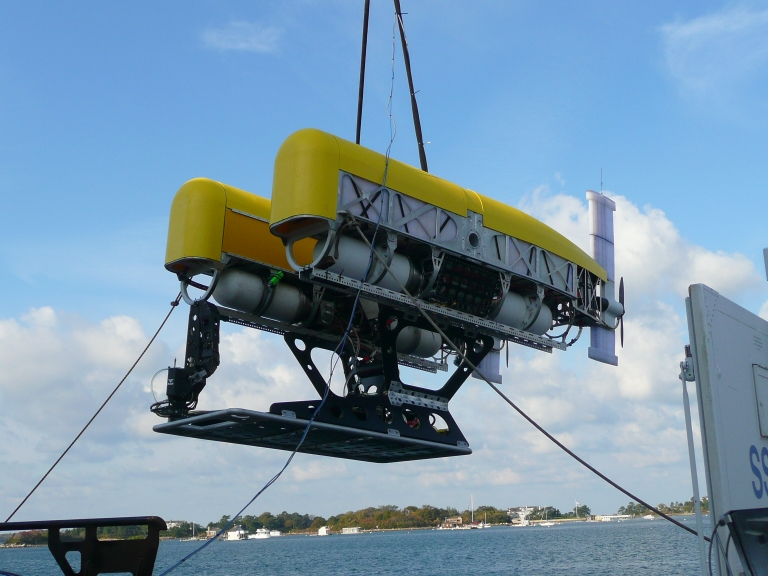 ROV launch for first dock test