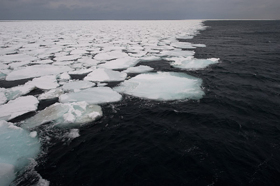 sea ice approaches