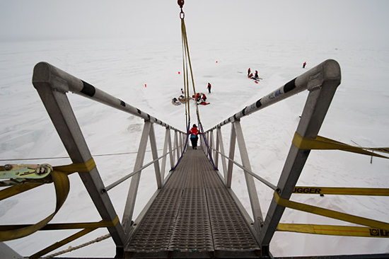 healy gangway down to ice