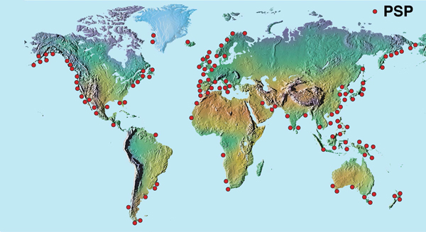 Distribution of habs throughout the world red tide