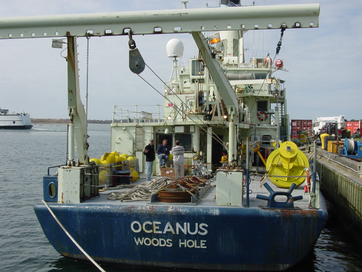 Cindy Pilskaln's Mooring Gear on the Oceanus Fantail