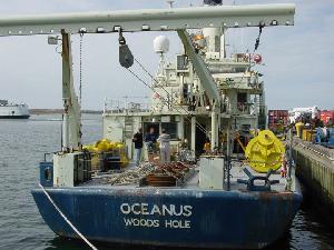 Cindy Pilskaln's Mooring Gear on the Oceanus Fantail