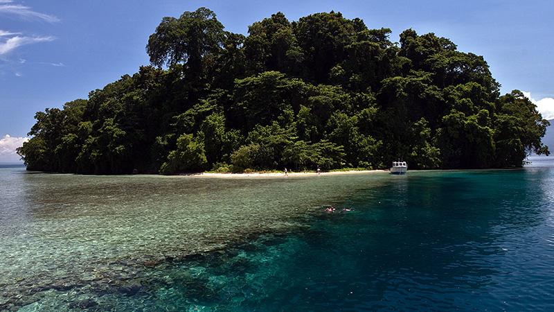 Restoff Island in Kimbe Bay, Papua New Guinea