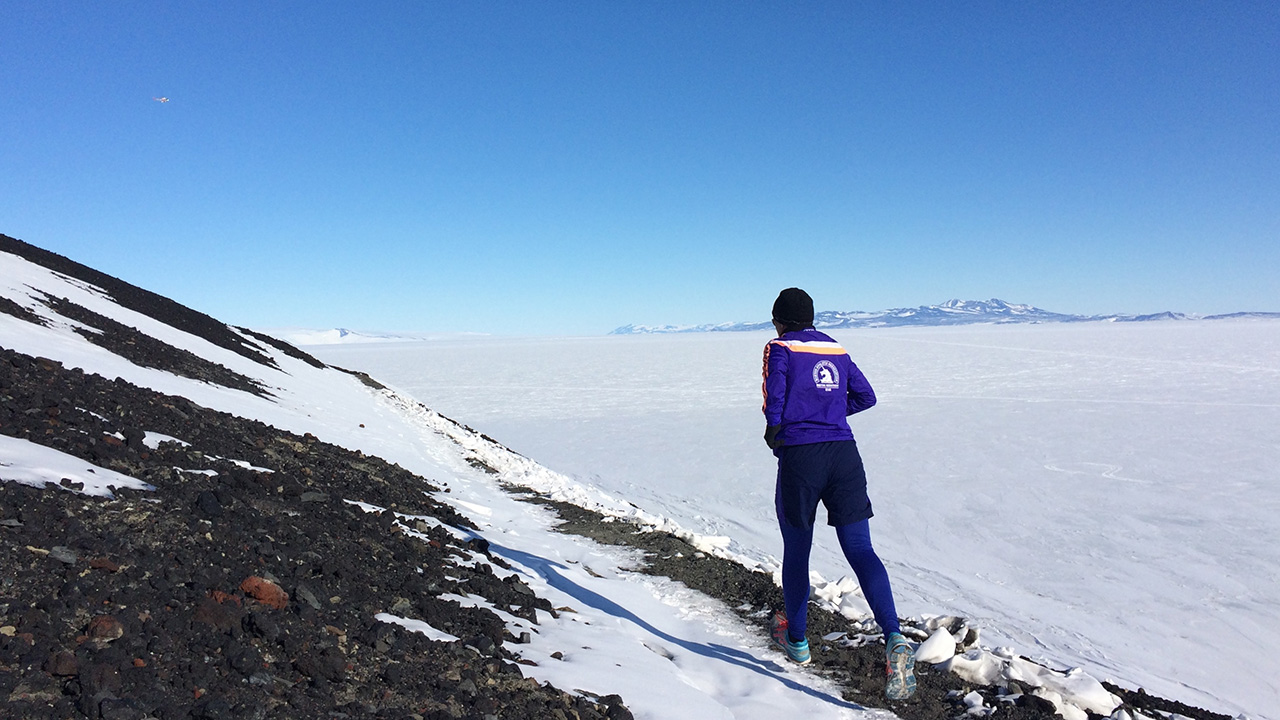 Running in Antarctica