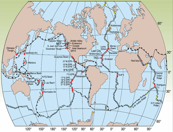 Mid Ocean Ridge Map