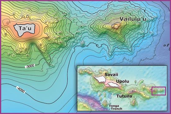 Voyage To Vailuluu Woods Hole Oceanographic Institution - Oceanographic map