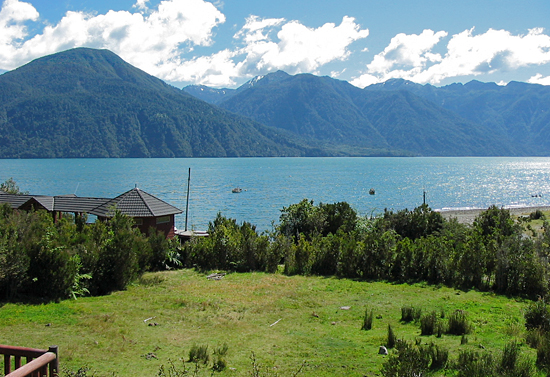 View from the Huinay Scientific Field Station in the Comau fjord, Northern Patagonian fjords, Chile.