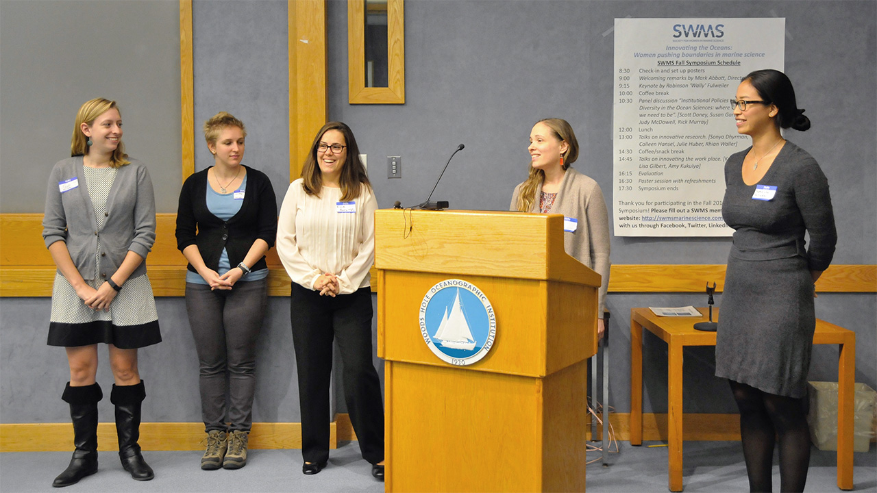 The Society for Women in Marine Science steering committee.