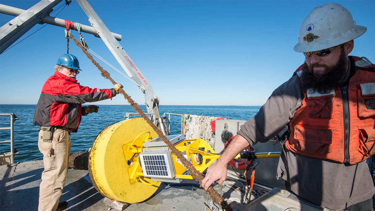 Storm buoy recovery