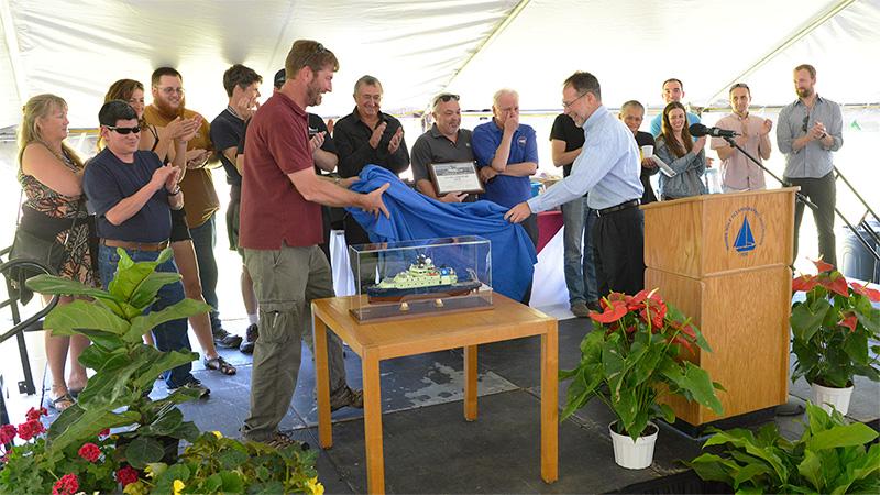 Neil Armstrong crew receiving Penzance Award