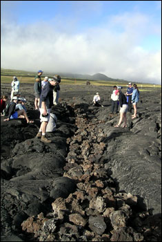This lava flow at the base of Mauna Kea originated from Mauna Loa Volcano.