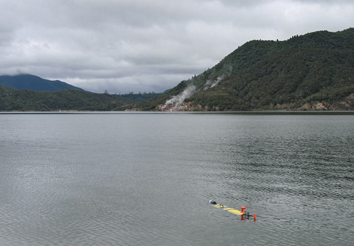 Remus 100 in Lake Rotomahana, New Zealand