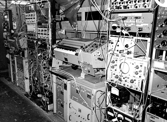 Electronics equipment in R/V Chain's main lab.