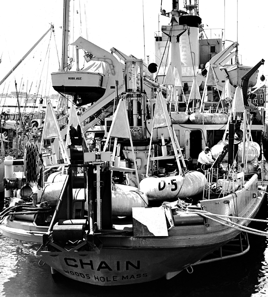 R/V Chain at WHOI dock.
