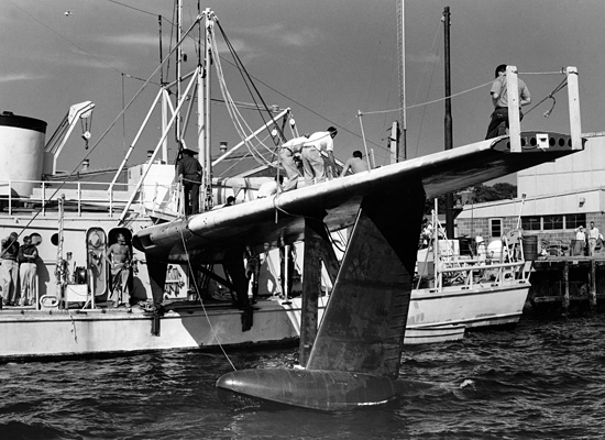 R/V Crawford with P5M wing attached..