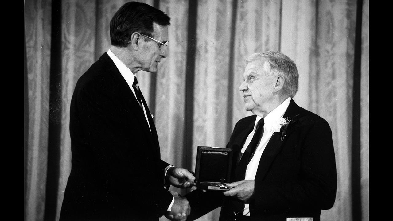 George H.W. Bush and Henry Stommel