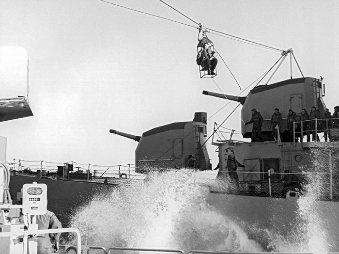 Transfer to USS Hazelwood