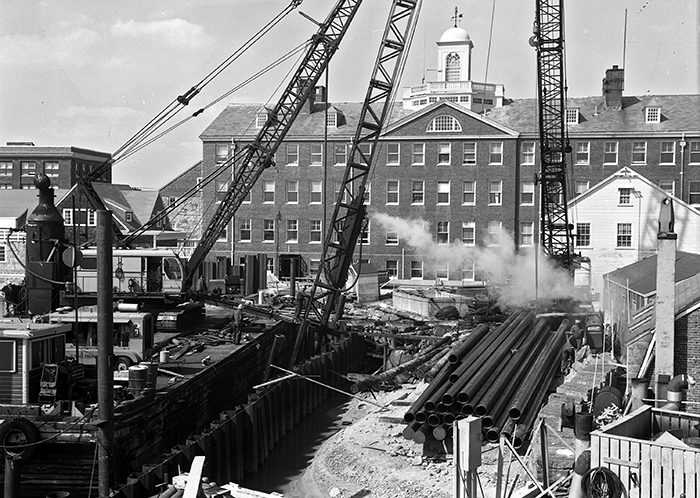 WHOI dock construction