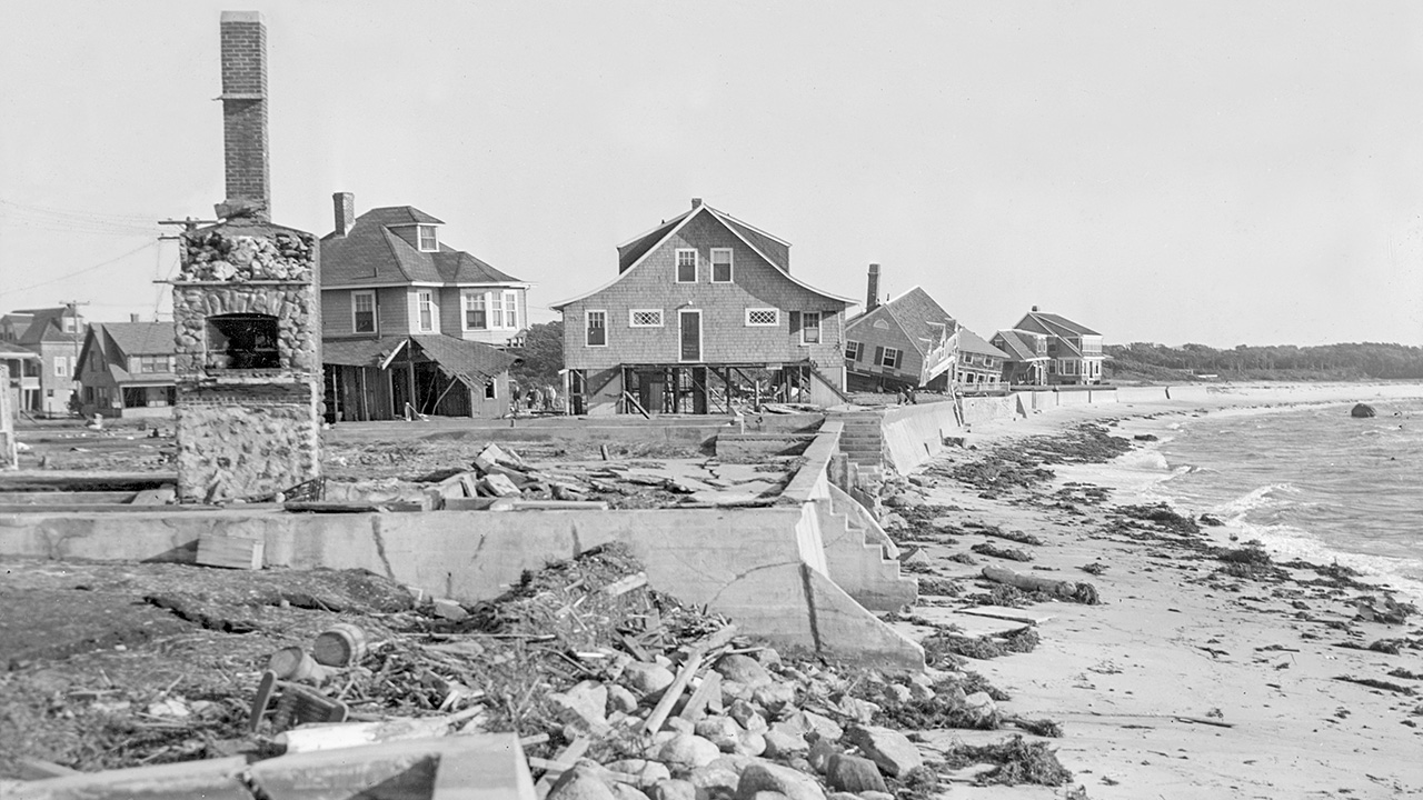 Silver Beach after 1938 hurricane