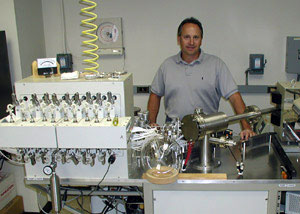Al Gagnon operates and maintains The PRISM and Optima mass spectrometers.