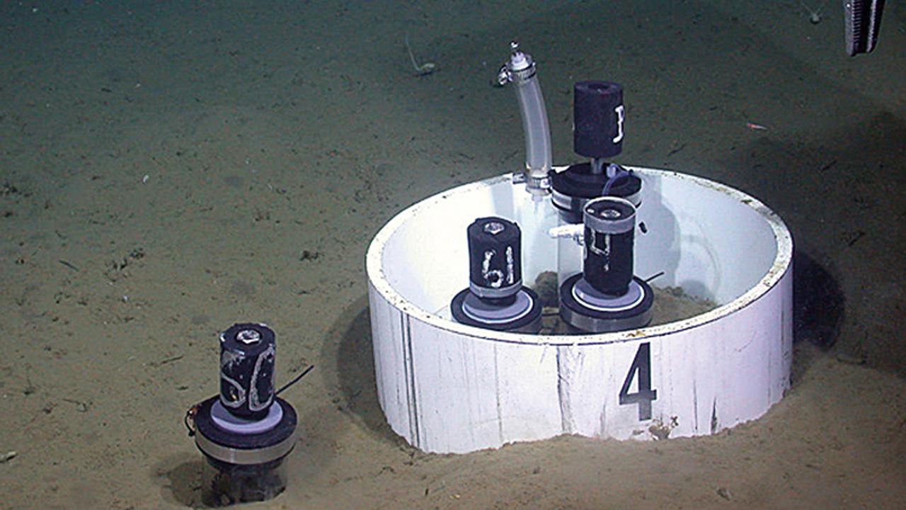 Seafloor carbon dioxide experiment