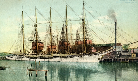 Postcard image of schooner Paul Plamer