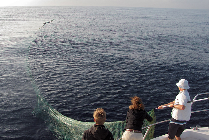 Retrieving a ghost net