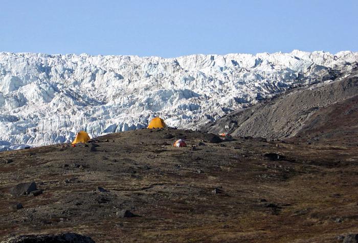 Greenland glacier camp