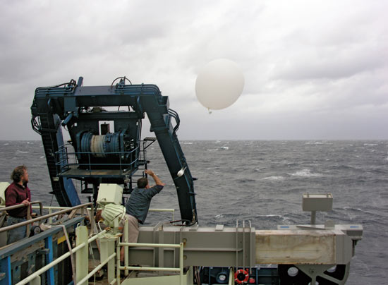 radiosonde, weather balloon, atlantis