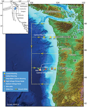 Endurance Array off Oregon