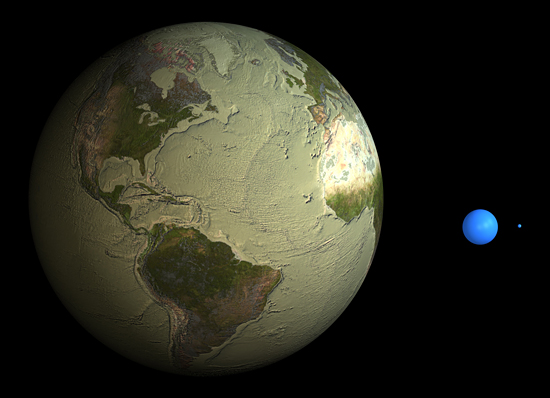 earth with water removed
