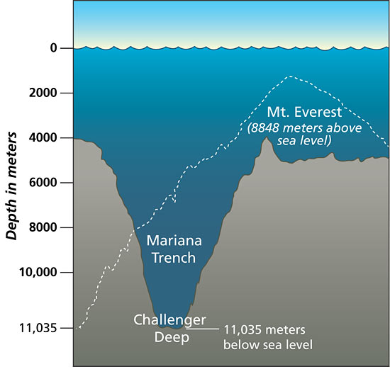 Challenger Deep in the Pacific's Mariana Trench