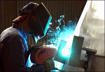 Welder working on Tioga