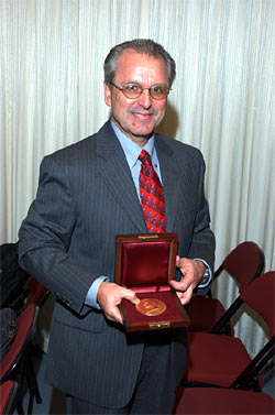David Karl with the Bigelow Medal