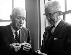 Henry Bigelow and WHOI Director Paul Fye