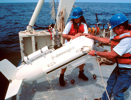 Sidescan-sonar subbottom profiler.