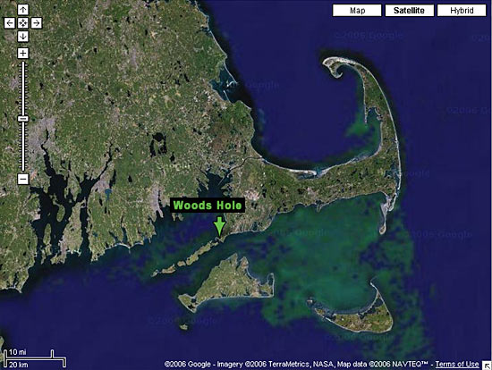 satellite image of woods hole