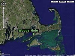 satellite image of woods hole