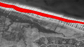 A projection of shoreline loss