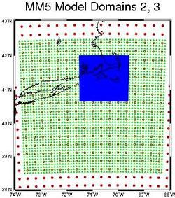 MM5 sub-grids
