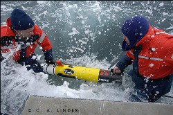 deploy a specially equipped REMUS Autonomous Underwater Vehicle