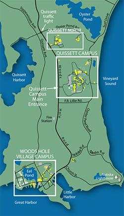 Directions Maps Woods Hole Oceanographic Institution - Oceanographic map