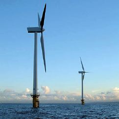 windfarm off the coast of England