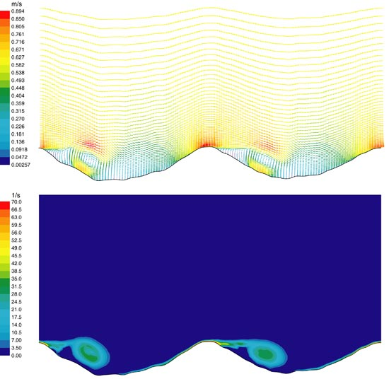 Snapshot of instantaneous flow