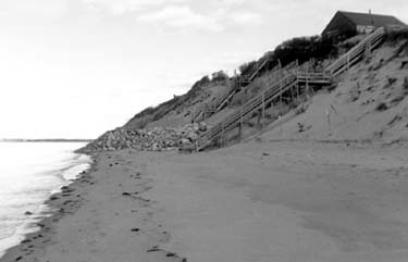 Eroding Coastal Bank in Eastham, Massachusetts