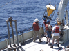 Timothy Eglinton deployed a sediment trap off the New England coast to investigate how carbon is transported from continental margins to the deep ocean.