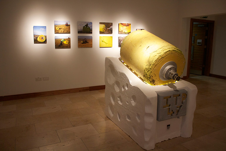 """On display at the """"Drifted, ITP 47"""" exhibit at Aras Inis Gluaire in Belmullet, Ireland in February 2014. (Fergus Sweeney)"""