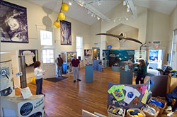 Visitors to the Exhibit Center will learn about the Institution's ocean science research and the vessels and tools developed by WHOI engineers and scientists for use in that research.