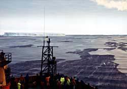Approach to the Mertz Glacier field